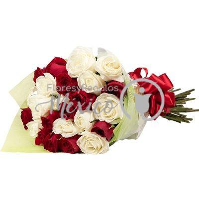 ramo-24-bicolor-rosas