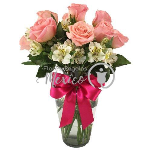 rosas en jarron