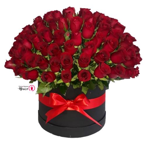 100 rosas en caja nuevo