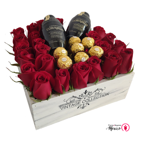 Carajillos con rosas