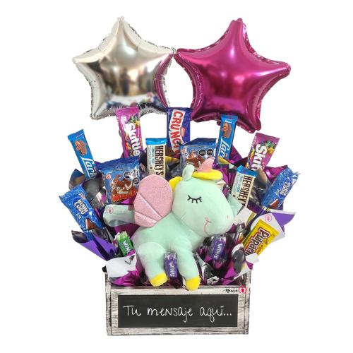Unicornio con dulces